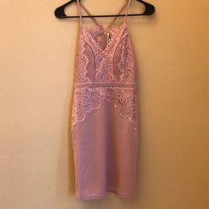 Rose pink homecoming dress